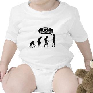 evolution - stop following me! bodysuits