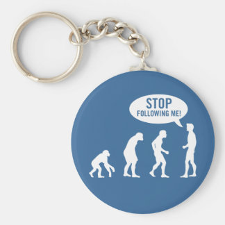 evolution - stop following me! key chains