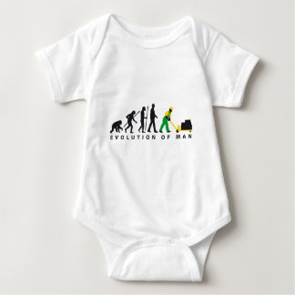 evolution storeman with more weightlifter baby bodysuit