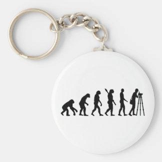Evolution surveyor basic round button keychain