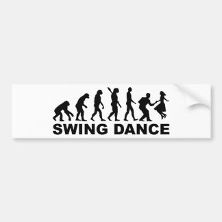 Evolution swing dance bumper sticker