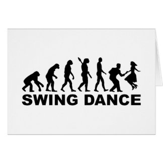 Evolution swing dance card