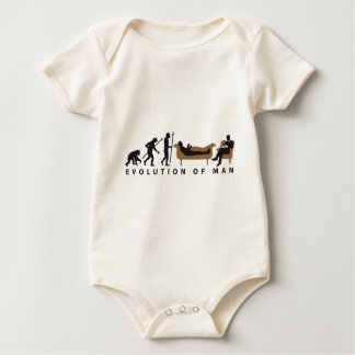 Evolution Therapist Psychologist Baby Bodysuit
