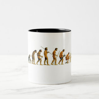 Evolution to Computer Two-Tone Coffee Mug