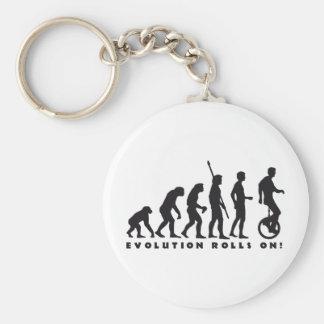 evolution unicycle basic round button keychain