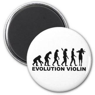Evolution violin refrigerator magnet
