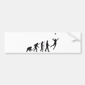 evolution volleyball more player bumper sticker