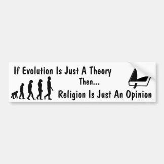 Evolution vs Religion Bumper Sticker