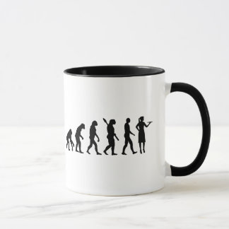 Evolution waitress mug