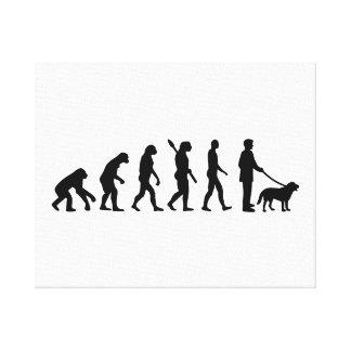 Evolution Walk the dog Canvas Print