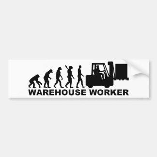 Evolution warehouse worker bumper sticker