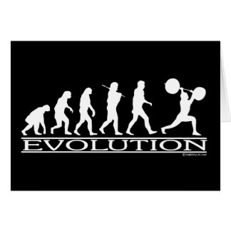 Evolution - Weight Lifter Card