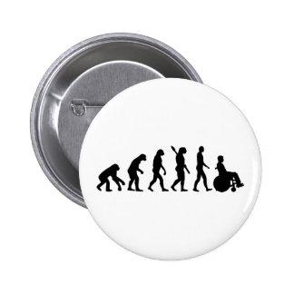 Evolution wheelchair handicaped 2 inch round button