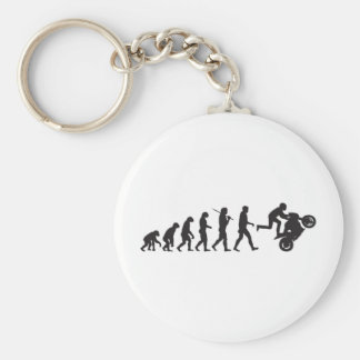 Evolution - Wheelie Basic Round Button Keychain