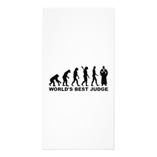 Evolution world s best judge personalized photo card
