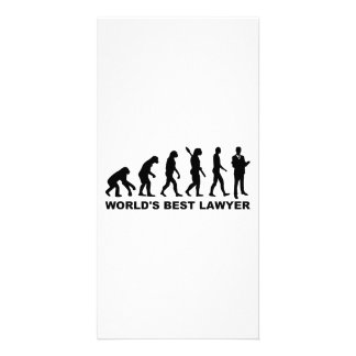 Evolution world s best lawyer personalized photo card
