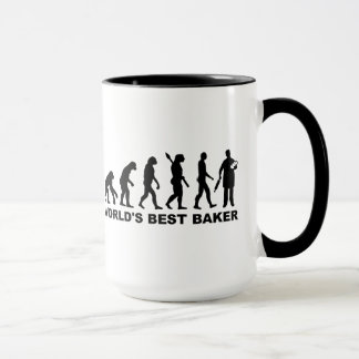 Evolution World's Best Baker Mug