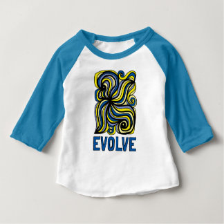 """Evolve"" Baby 3/4 Raglan T-Shirt"