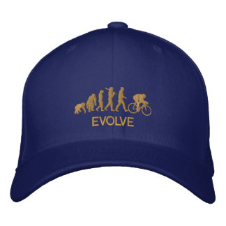 Evolve Evolution of Cycling Bicycle Embroidered Hat
