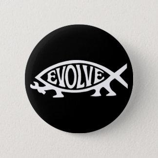 Evolve Fish 2 Inch Round Button