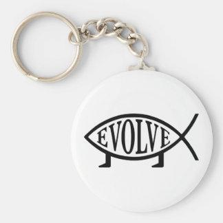 Evolve Fish Key Chain