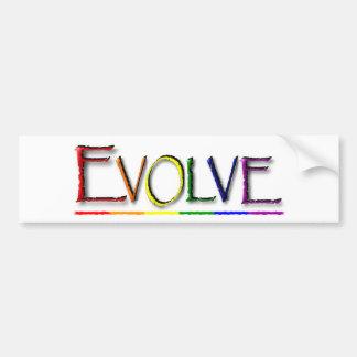 Evolve Gay Bumper Sticker