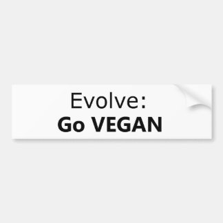 Evolve: Go Vegan Bumper Sticker