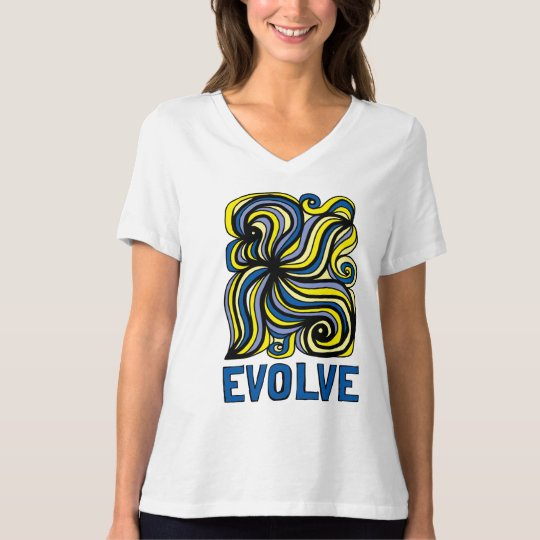 """Evolve"" Women's Relaxed Fit V-Neck T-Shirt"