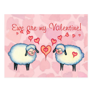 EWE are MY VALENTINE by SHARON SHARPE Postcard