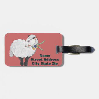 Ewe's not Fat, Ewe's Fluffy! Luggage Tag