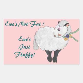 Ewe's not Fat, Ewe's Fluffy! Stickers