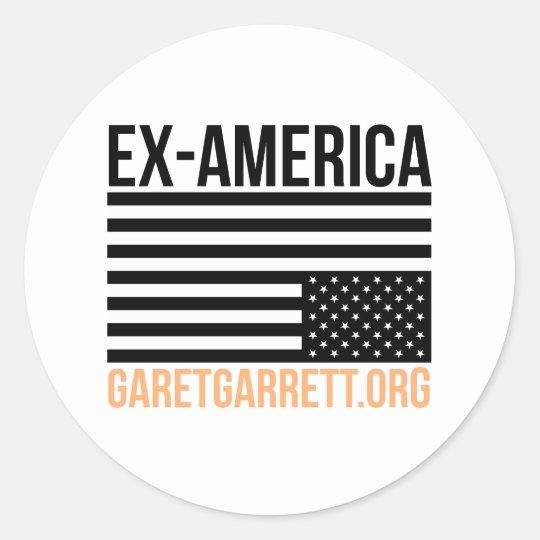 Ex-America Inverted Flag Classic Round Sticker