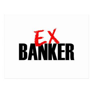 EX BANKER LIGHT POSTCARD