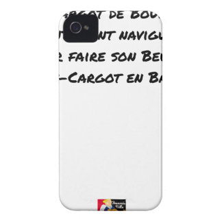EX CARGOT OF BURGUNDY SLOWLY SAILED, FOR Case-Mate iPhone 4 CASE