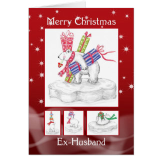Ex-Husband Christmas Card - Polar Bears