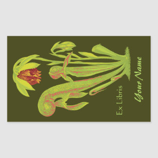 Ex Libris Botanical Book Name Plate Stickers