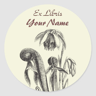 Ex Libris Carnivorous Plant Stickers