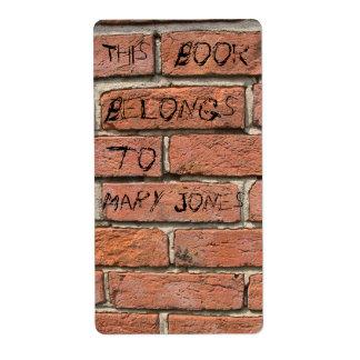 Ex-libris de brique étiquettes d'expédition