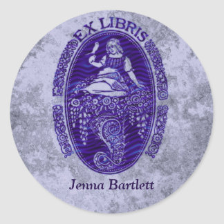Ex Libris Dutch Blue Sticker