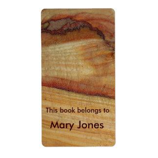 Ex-libris en bois de grain étiquettes d'expédition
