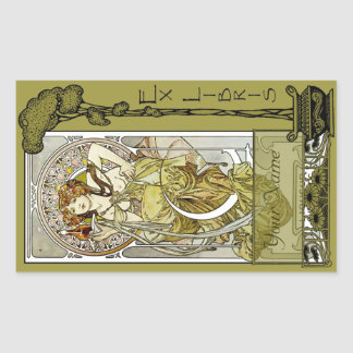 Ex Libris - Nectar Ad Book Plate-Your Name Sticker
