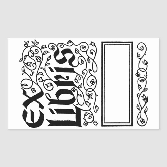 Ex Libris ~ Vintage Looking Bookplate / Booklabel Sticker