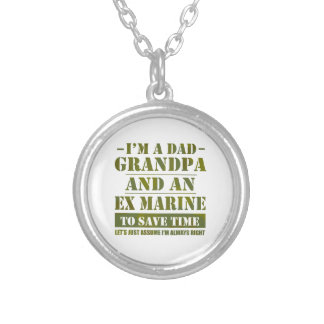 Ex Marine Silver Plated Necklace