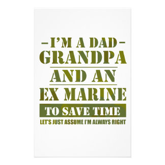 Ex Marine Stationery