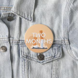 ex smoker two months quit smoking 3 inch round button