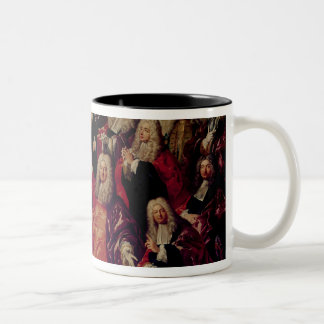 Ex-Voto.Corps de Ville Demand Return Two-Tone Coffee Mug