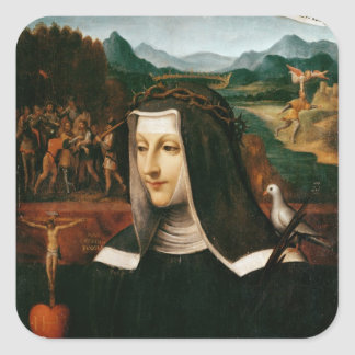 Ex Voto dedicated to St. Catherine of Siena Square Sticker