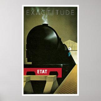 Exactitude Vintage French Railway Poster