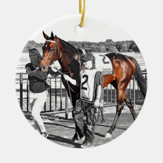 Exaggerator Round Ceramic Ornament
