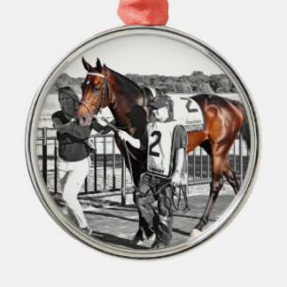 Exaggerator Silver-Colored Round Ornament